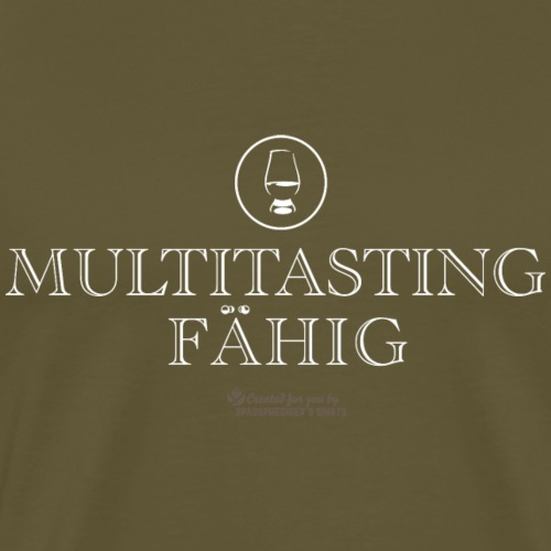 Whisky Design Glas und Spruch Multitastingfähig - Männer Premium T-Shirt