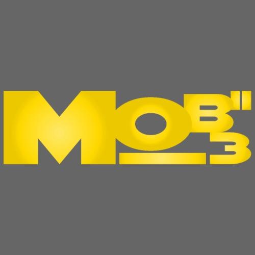 Mobii_3 Logo gelb - Männer Premium T-Shirt