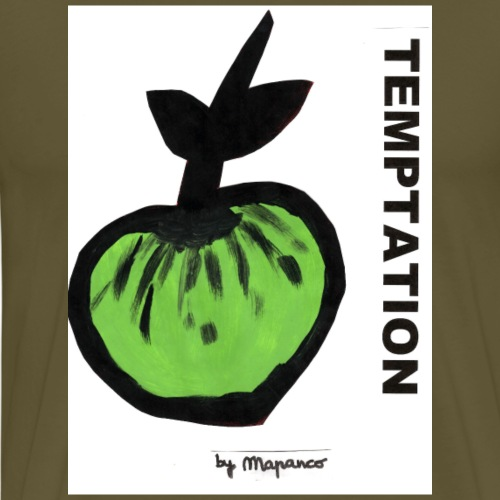 TEMPTATION apple - Camiseta premium hombre