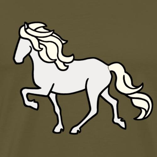 Islandpferd, Schimmel, hell - Männer Premium T-Shirt