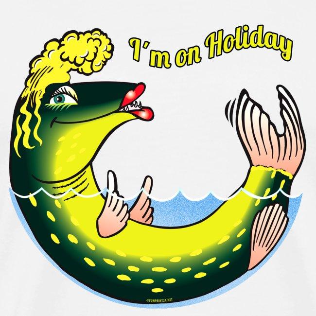 LADY FISH HOLIDAY - Haukileidi lomailee tekstiilit