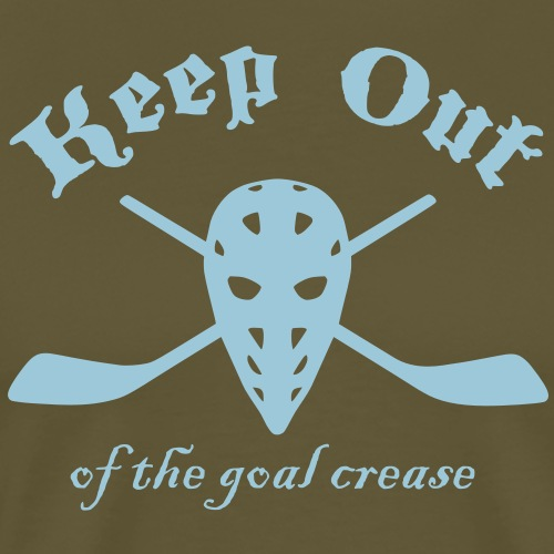 Keep Out Of The Goal Crease (Ice Hockey) - Men's Premium T-Shirt