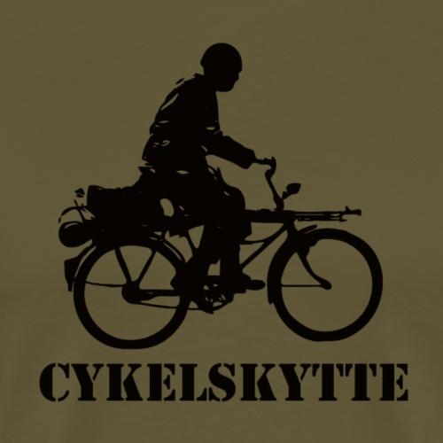 Cykelskytte - Premium-T-shirt herr
