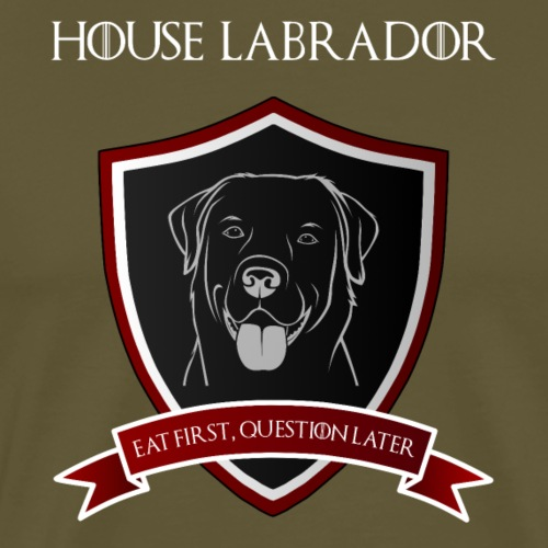 House Labrador - Eat first, question later - Männer Premium T-Shirt