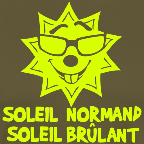 soleil normand brulant citation humour 2 - T-shirt Premium Homme