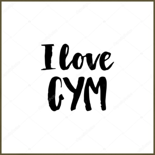 I love gym - Premium-T-shirt herr