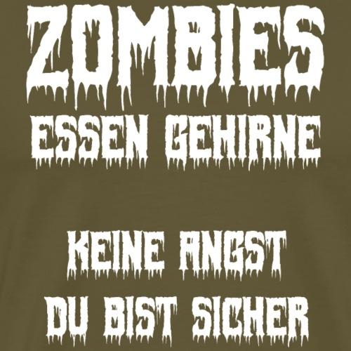 Zombie Halloween lustiger Spruch Shirt Geschenk - Männer Premium T-Shirt