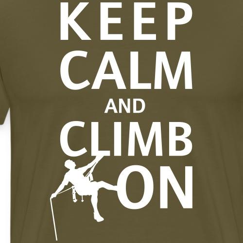 keep calm and climb on - Men's Premium T-Shirt