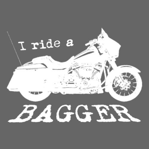 I ride a bagger - hvid - Herre premium T-shirt