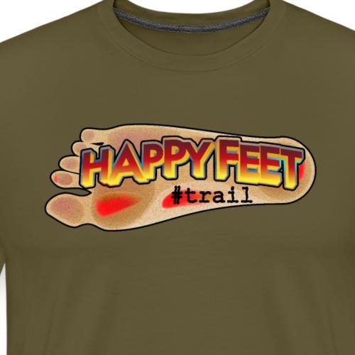 Happy Feet, spécial trail - T-shirt Premium Homme