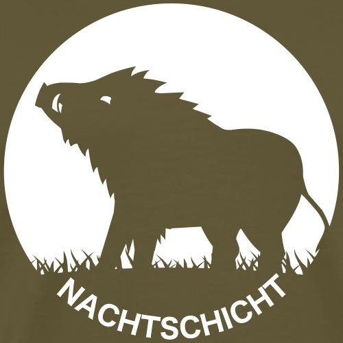 """""""Nachtschicht bei Schweinesonne""""-Shirt für Jäger - Männer Premium T-Shirt"""