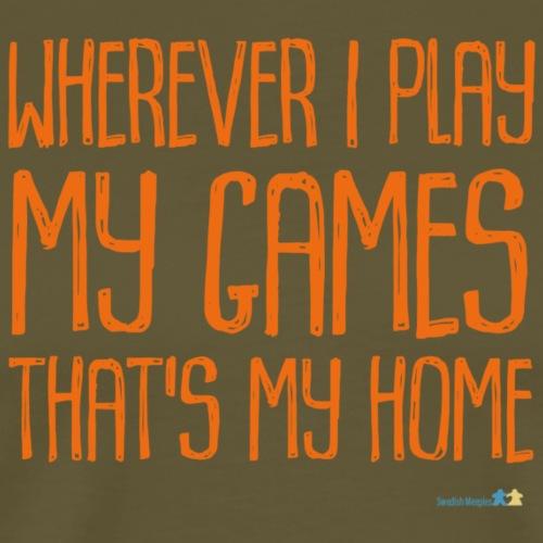 Where I Play with Logo Orange - Premium-T-shirt herr
