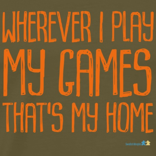 Where I Play with Logo Orange - Premium-T-shirt herr