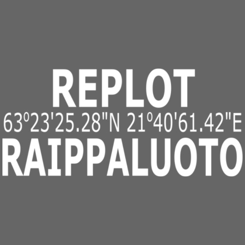 Raippaluoto Replot Mustasaari valkoinen - Miesten premium t-paita