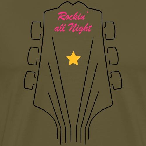 RockingAllNight - Maglietta Premium da uomo