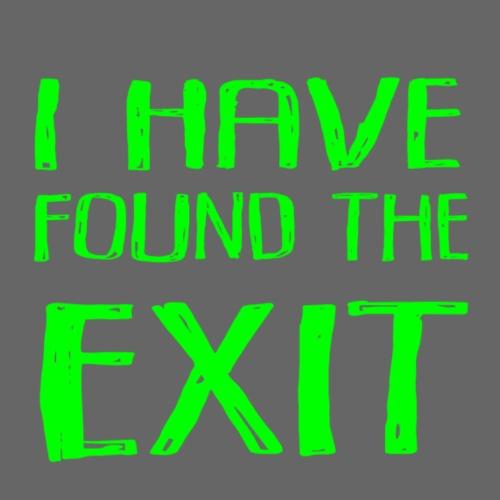 Found Exit Green - Premium-T-shirt herr