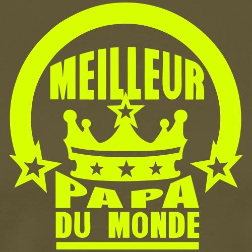 meilleur papa du monde couronne roi - T-shirt Premium Homme
