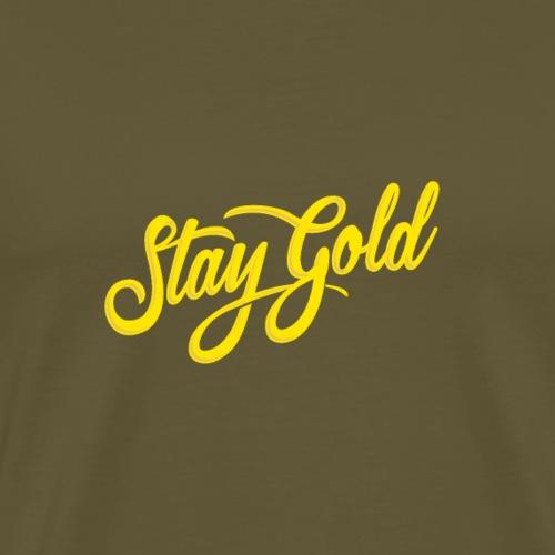 Bleib Gold - Männer Premium T-Shirt