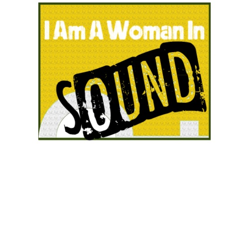 I am a woman in sound - yellow - Men's Premium T-Shirt