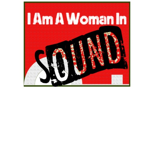 I am a woman in sound - red - Men's Premium T-Shirt