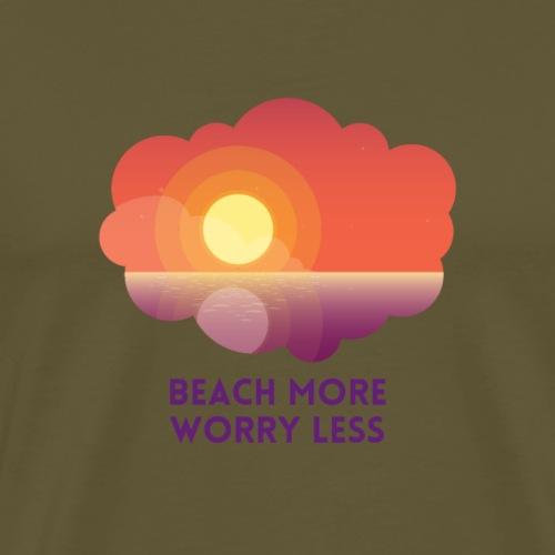 Plus de plage, moins de soucis - T-shirt Premium Homme