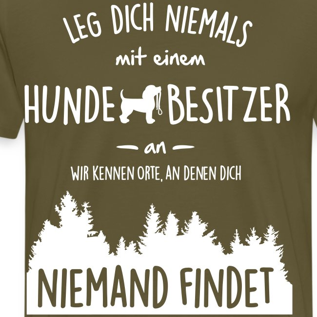 Vorschau: Hundebesitzer - Männer Premium T-Shirt