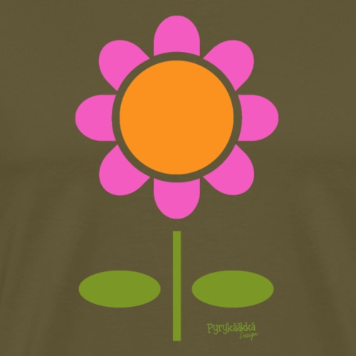 Retro flower - Miesten premium t-paita