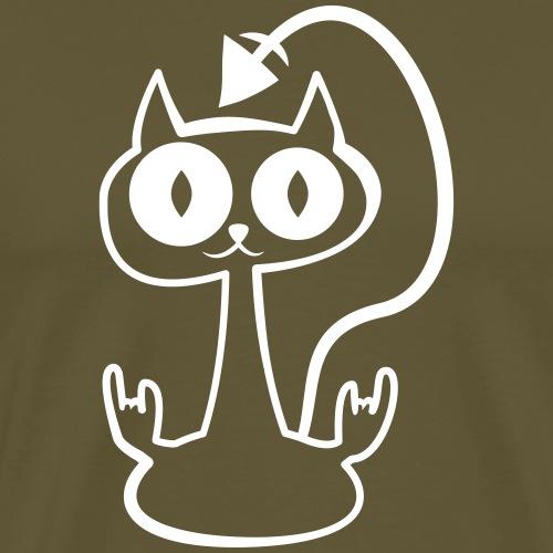 bnbm cat outline dark bg - Men's Premium T-Shirt