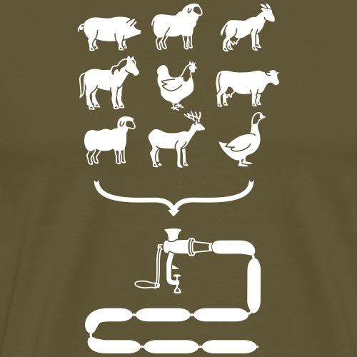 sausage animals - Men's Premium T-Shirt