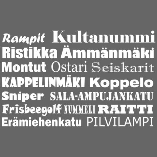 Ristinummi Korsnäståget Vaasa Vasa valkoinen - Miesten premium t-paita