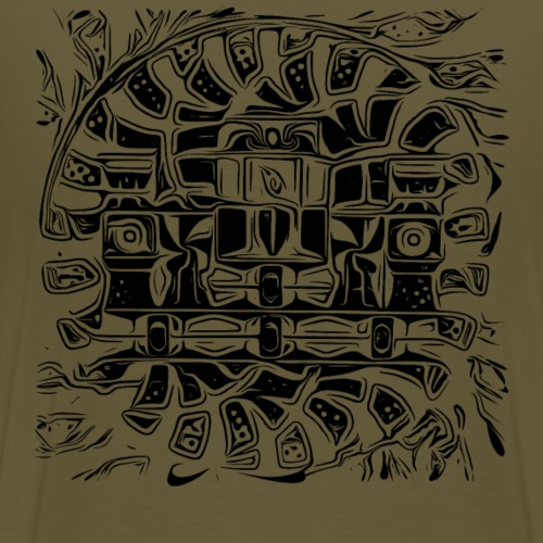 verschraenkung 23 A3 - Männer Premium T-Shirt