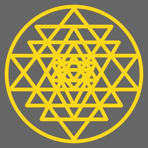 Sri Yantra Mandala Heilige Geometrie - Männer Premium T-Shirt