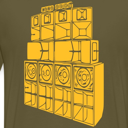 soundsystem - Männer Premium T-Shirt