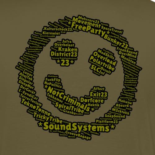 soundsystem smile green - Männer Premium T-Shirt