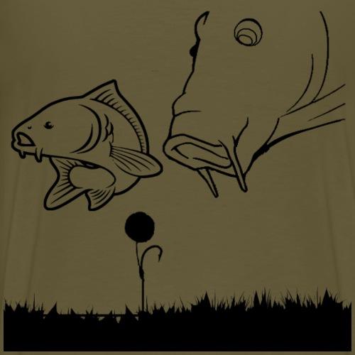 2 feeding carp - Men's Premium T-Shirt