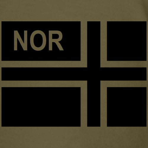 Norwegian Tactical Flag Rev Norway -Norge - NOR - Premium-T-shirt herr