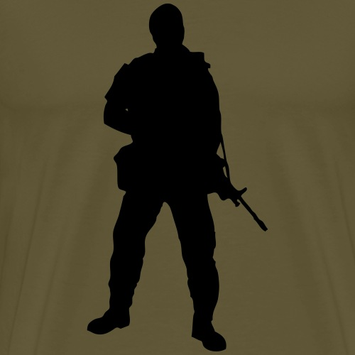 Swedish soldier + SWE Flag - Premium-T-shirt herr