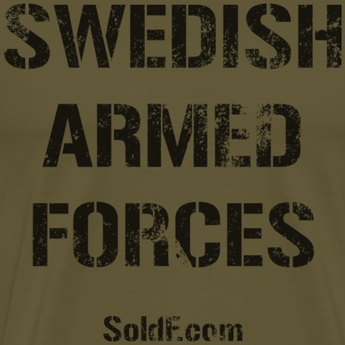 Swedish Armed Forces + SWE FLAG - Premium-T-shirt herr