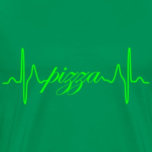 Pizza heartbeat ECG - Men's Premium T-Shirt