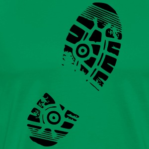 shoeprint - Herre premium T-shirt