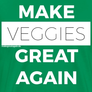 MAAK VEGGIES GREAT AGAIN wit - Mannen Premium T-shirt