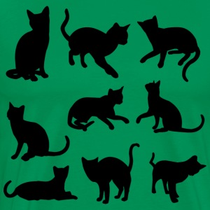 cats silhouettes - Men's Premium T-Shirt
