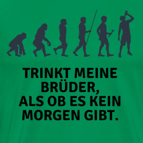 Party Trink Design - Männer Premium T-Shirt
