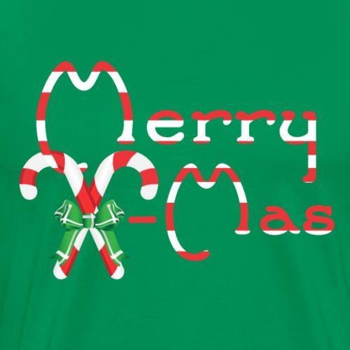 Merry X-Mas - Zuckerstangendesign - Männer Premium T-Shirt
