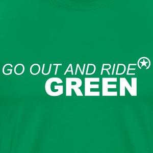 jeździć zielono - Koszulka męska Premium
