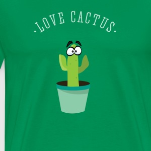 Cactus green Love spines beard hipster plant com - Men's Premium T-Shirt