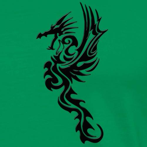 schwarzer Drache - Männer Premium T-Shirt