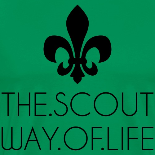 THE.SCOUT.WAY.OF.LIFE Typo Lilie - Farbe wählbar - Männer Premium T-Shirt