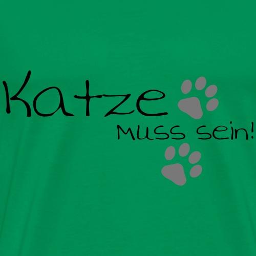 Katze mit Tatzen - Männer Premium T-Shirt