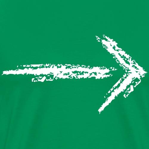 Wegzeichen folgen - Kreidestrich - Farbe wählbar - Männer Premium T-Shirt
